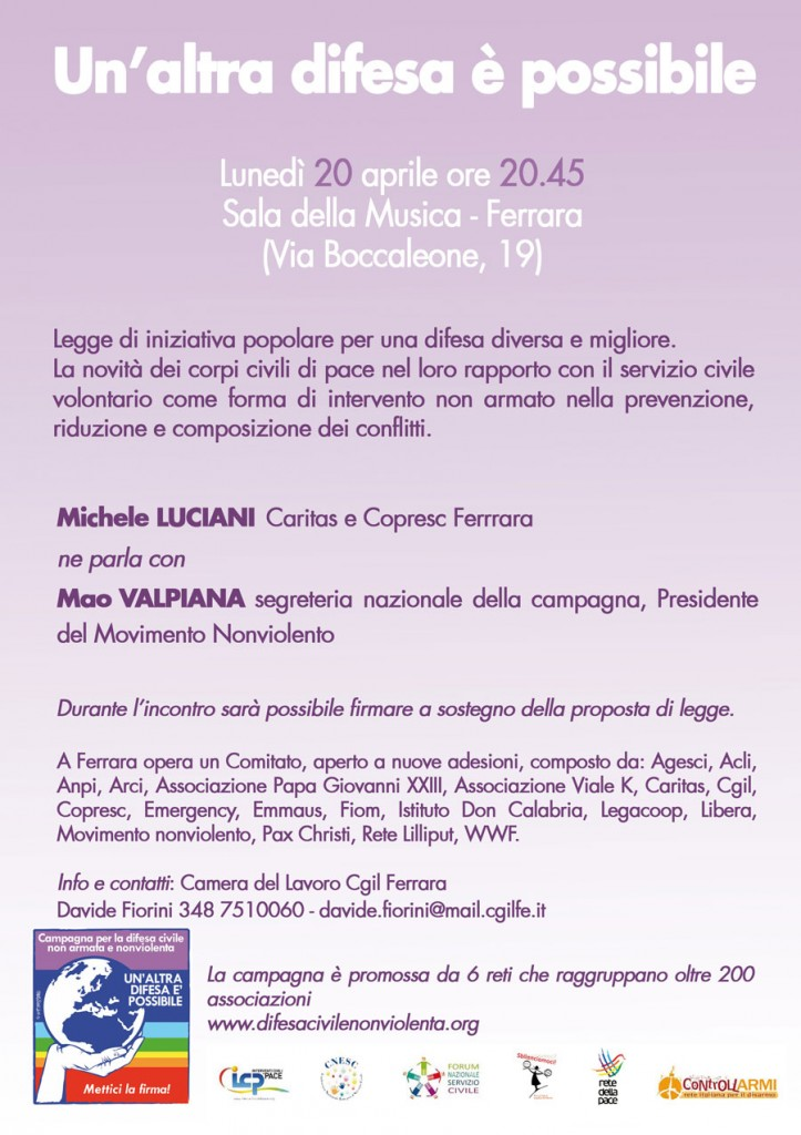 Ferrara 20 aprile