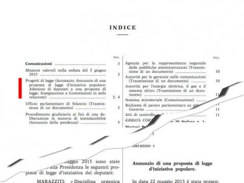 Annunzio Legge Iniziativa Popolare