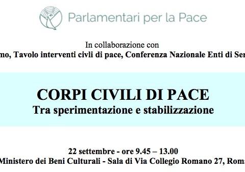 Corpi Civili Pace 22 settembre