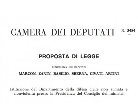 PdL Parlamentari difesa civile Legge3484
