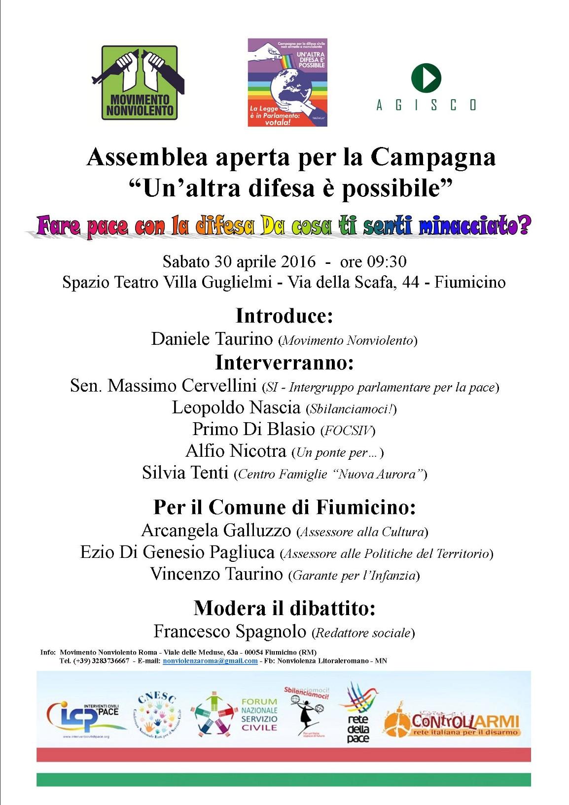 Fare pace con la difesa - 30 aprile 2016 Fiumicino